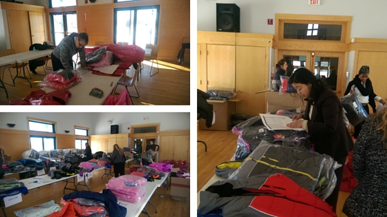 SOS Illinois staff organize coat donation