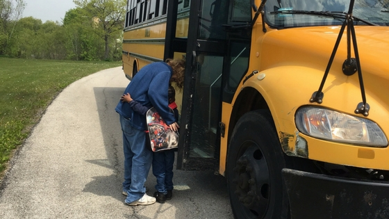 SOS Illinois Foster Parent sending child off to school.