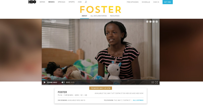 FOSTER – HBO Documentary