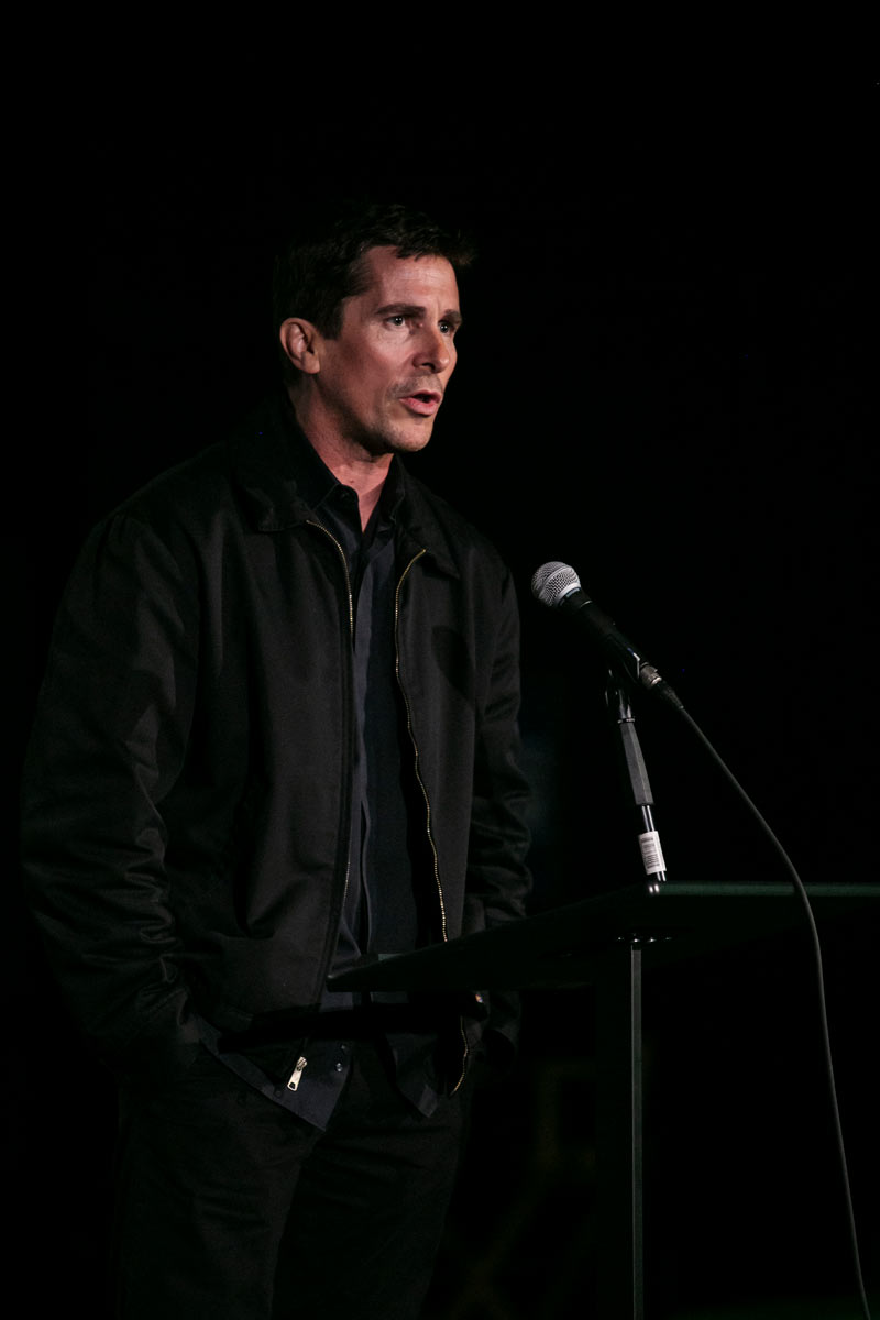 Christian Bale speaks to the audience #Voices4FosterCare